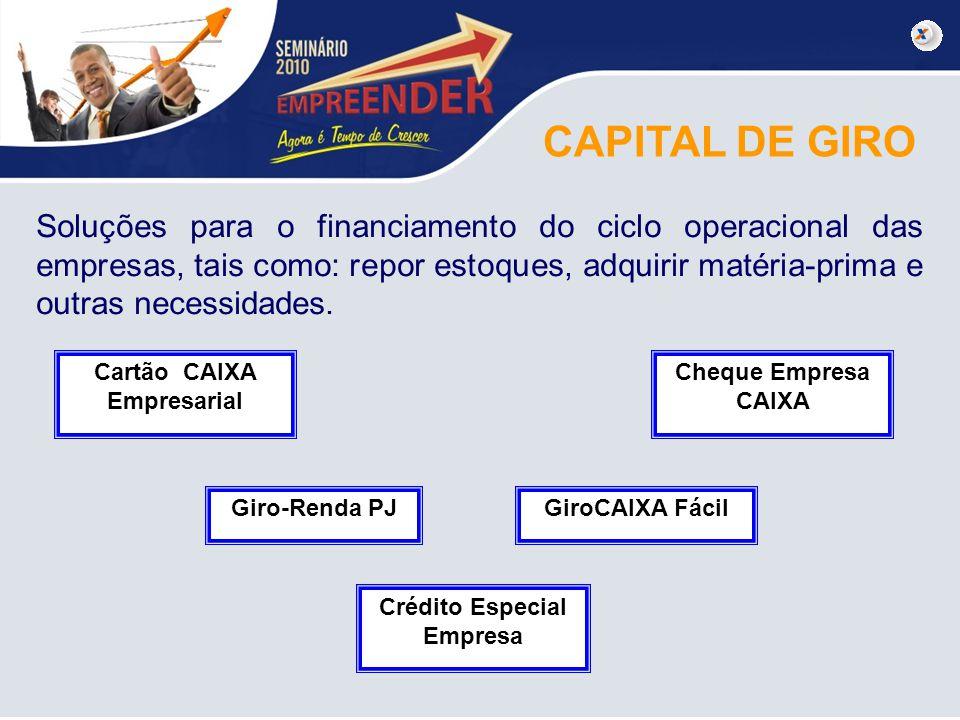 Cartão CAIXA Empresarial Crédito Especial Empresa