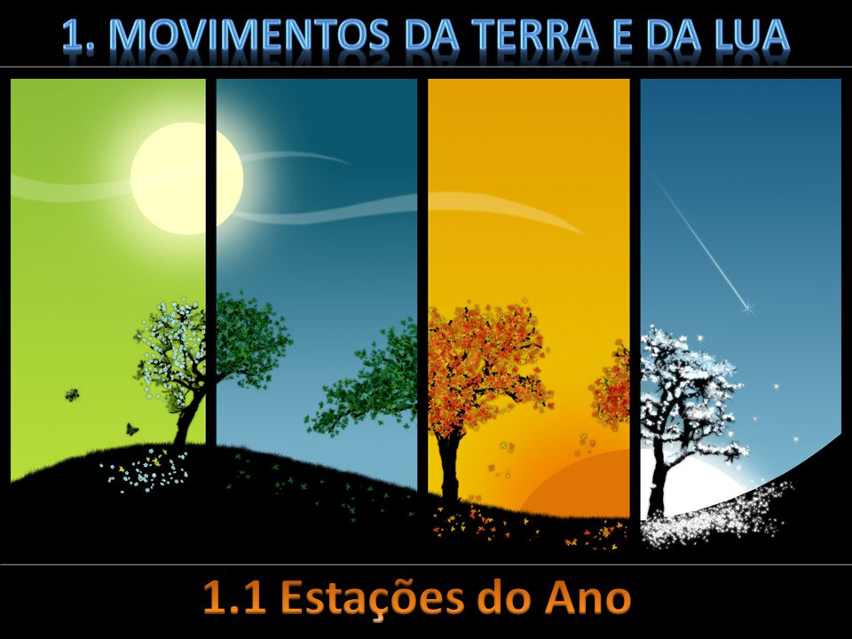 1. Movimentos da terra e da lua
