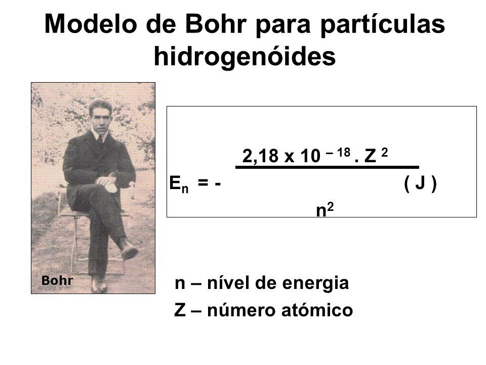 Modelo de Bohr para partículas hidrogenóides