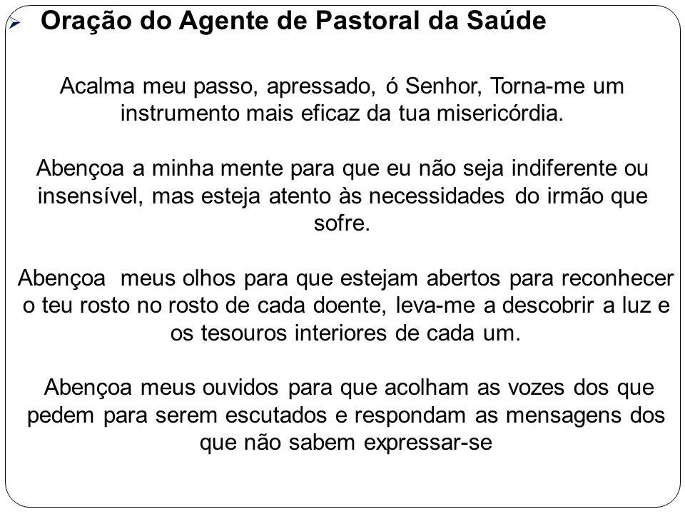 Oração do Agente de Pastoral da Saúde
