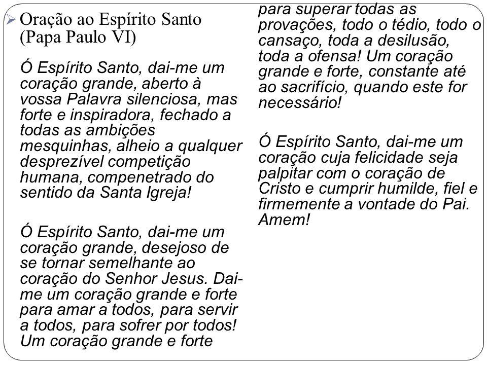 Oração ao Espírito Santo (Papa Paulo VI)