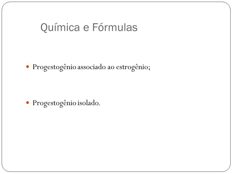 Química e Fórmulas Progestogênio associado ao estrogênio;