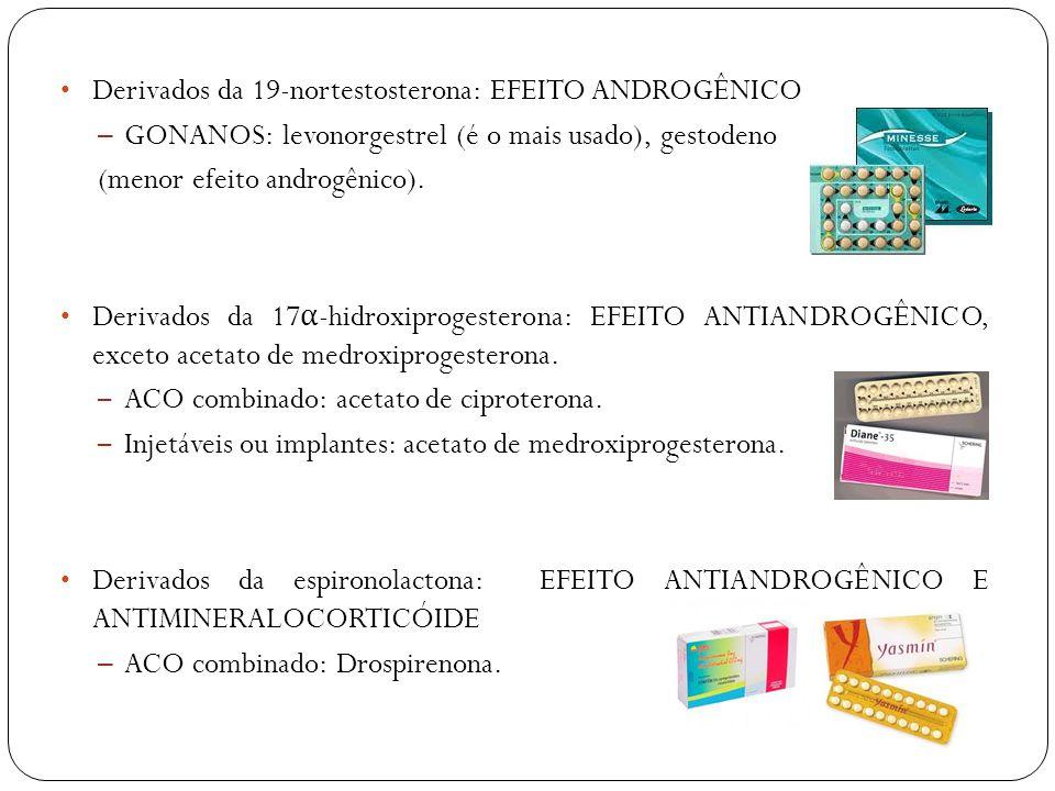 Derivados da 19-nortestosterona: EFEITO ANDROGÊNICO