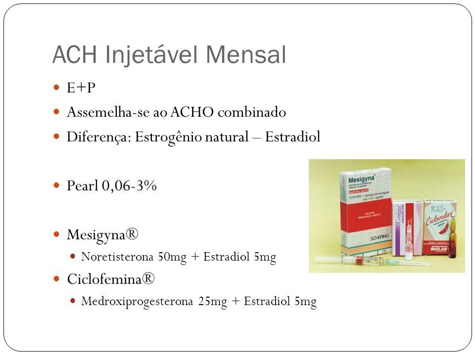 ACH Injetável Mensal E+P Assemelha-se ao ACHO combinado