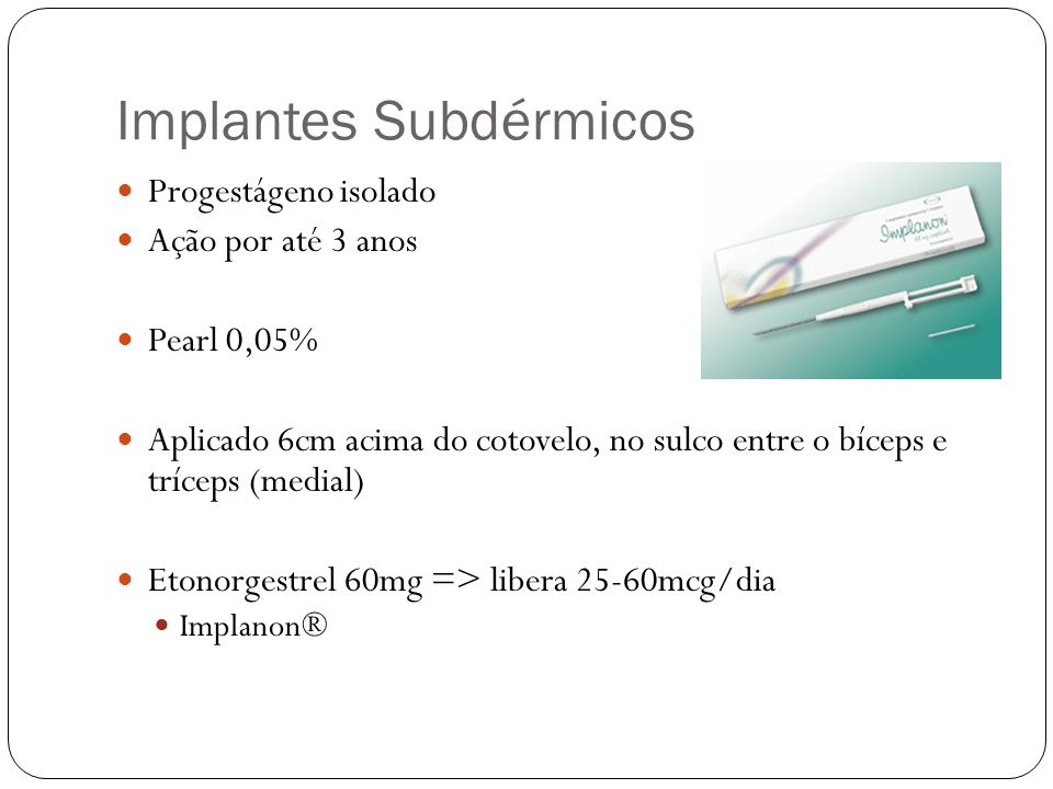 Implantes Subdérmicos