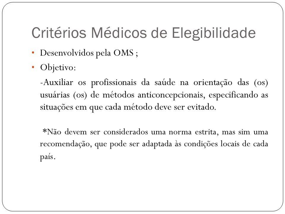 Critérios Médicos de Elegibilidade
