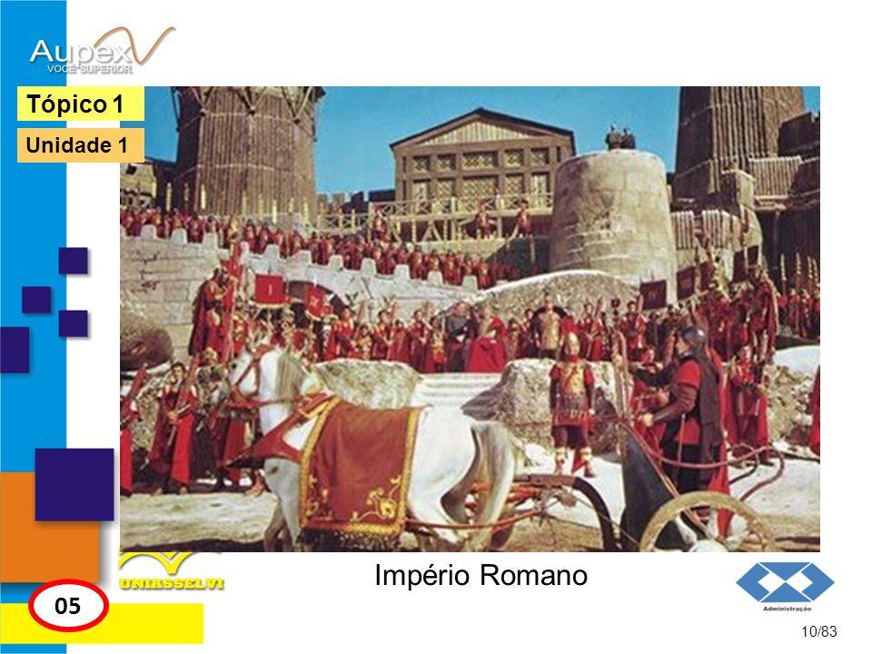 Tópico 1 Unidade 1 Império Romano 05 10/83