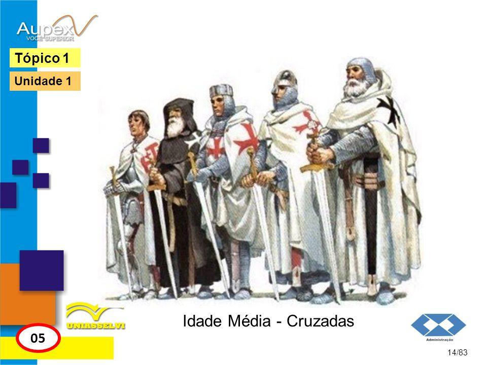 Tópico 1 Unidade 1 Idade Média - Cruzadas 05 14/83