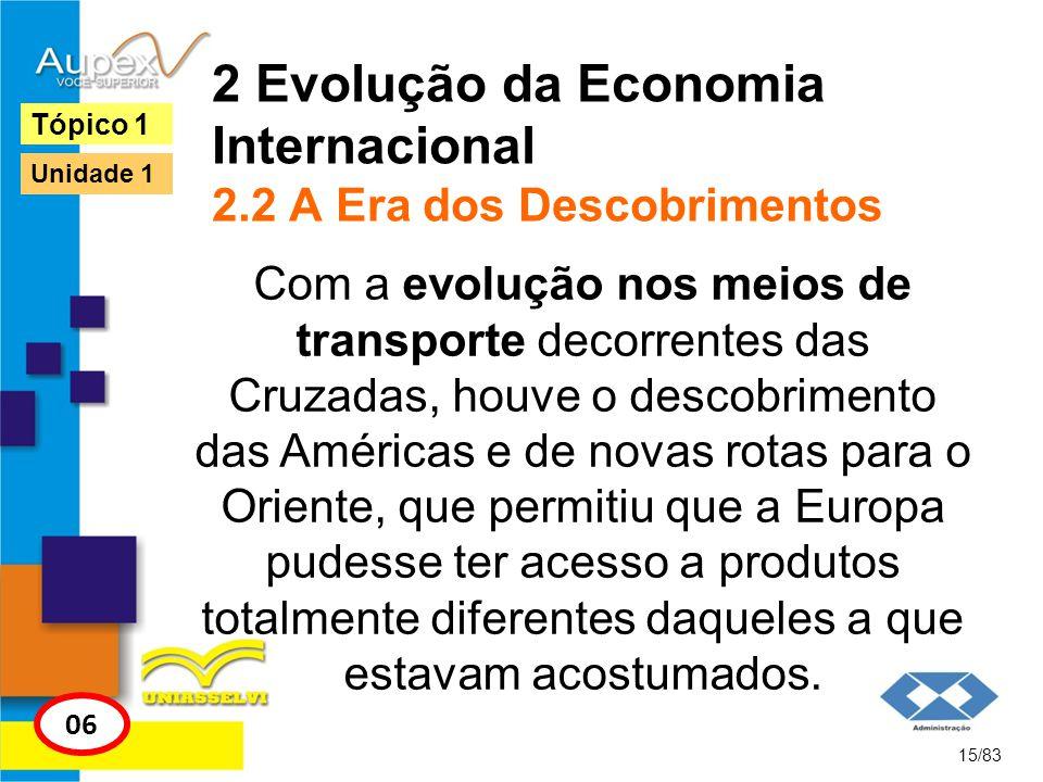 2 Evolução da Economia Internacional 2.2 A Era dos Descobrimentos