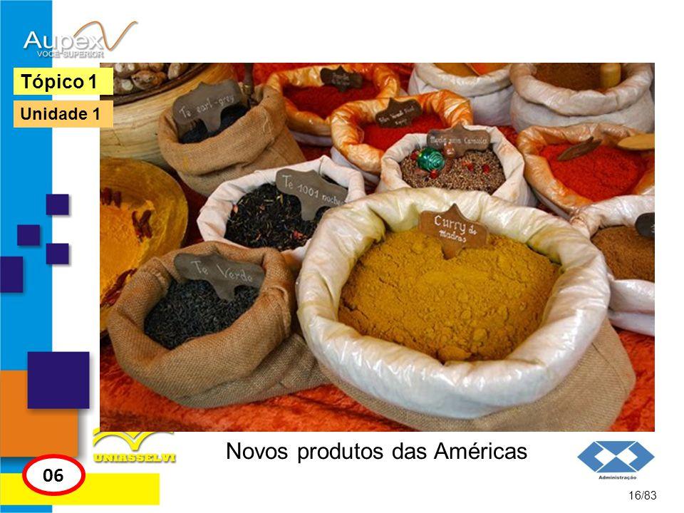 Novos produtos das Américas