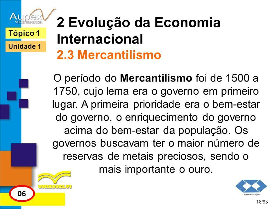 2 Evolução da Economia Internacional 2.3 Mercantilismo