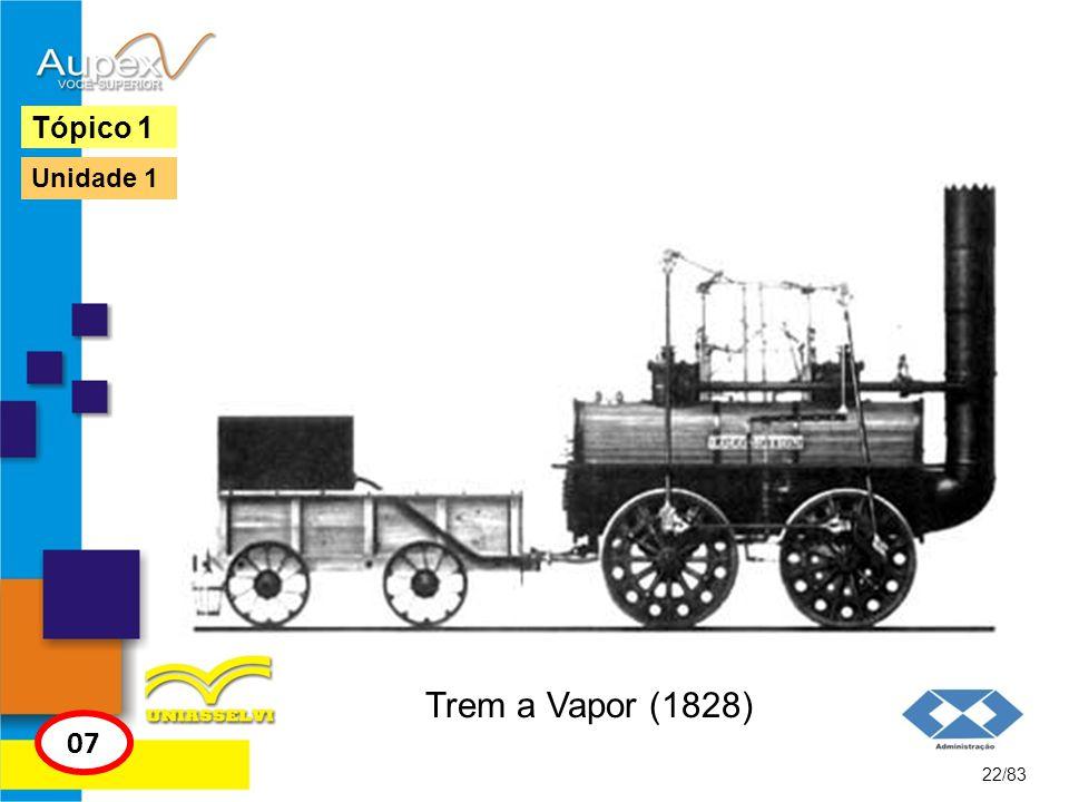Tópico 1 Unidade 1 Trem a Vapor (1828) 07 22/83