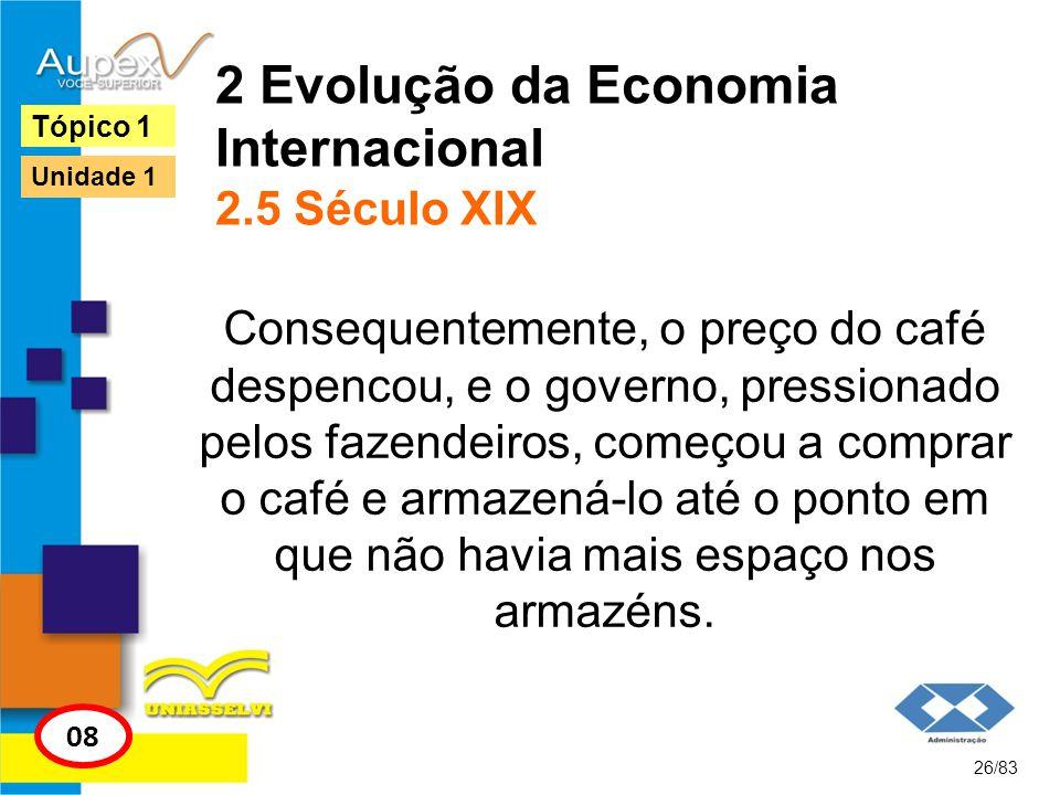 2 Evolução da Economia Internacional 2.5 Século XIX