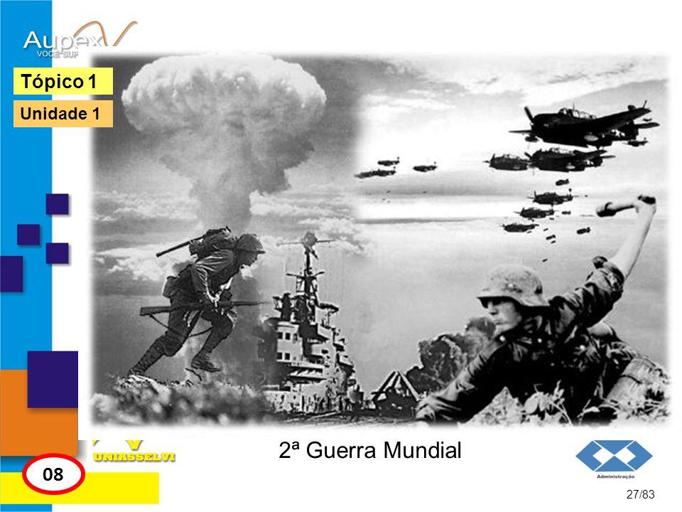 Tópico 1 Unidade 1 2ª Guerra Mundial 08 27/83