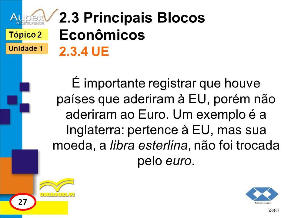 2.3 Principais Blocos Econômicos 2.3.4 UE