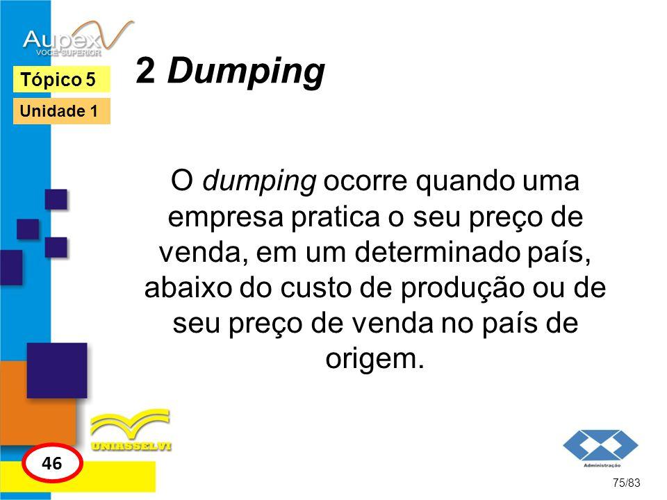 2 Dumping Tópico 5. Unidade 1.