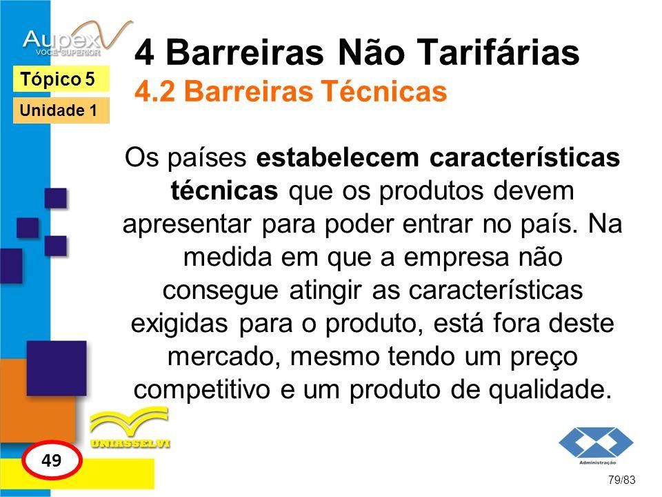 4 Barreiras Não Tarifárias 4.2 Barreiras Técnicas