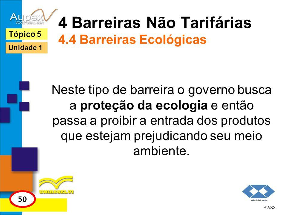 4 Barreiras Não Tarifárias 4.4 Barreiras Ecológicas