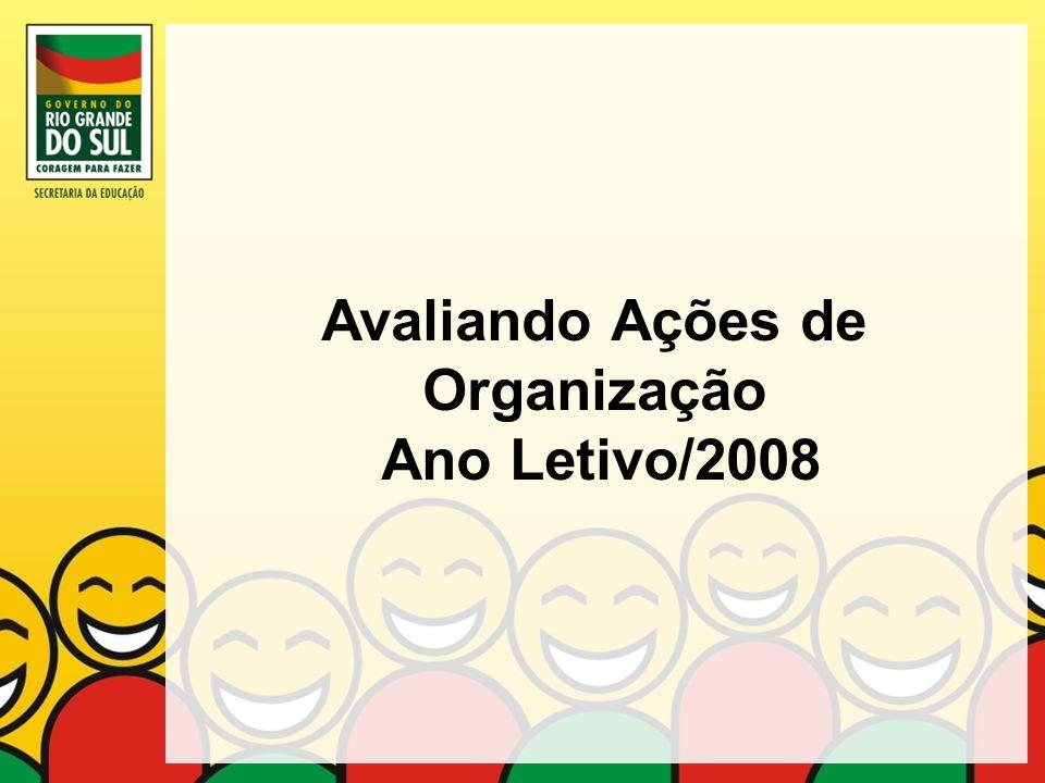 Avaliando Ações de Organização