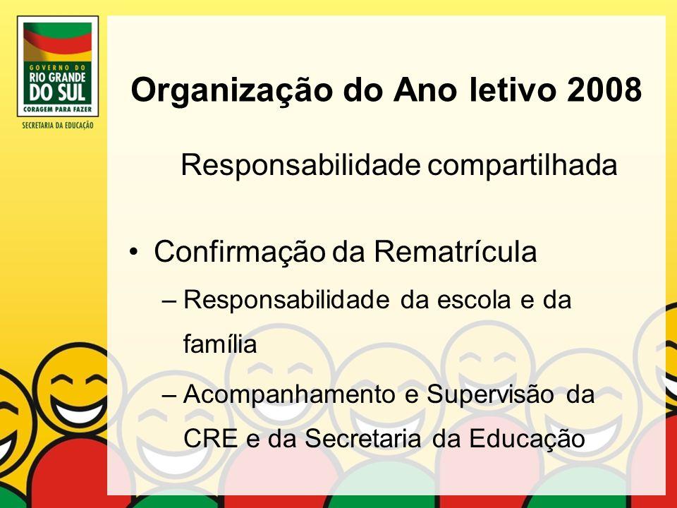Organização do Ano letivo 2008