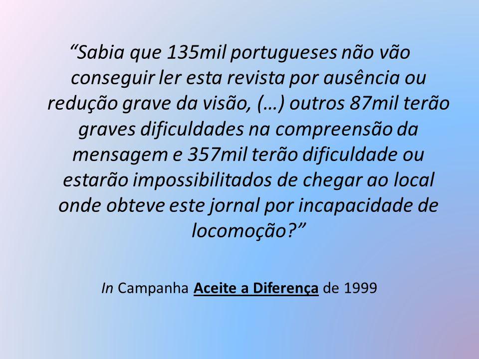 In Campanha Aceite a Diferença de 1999