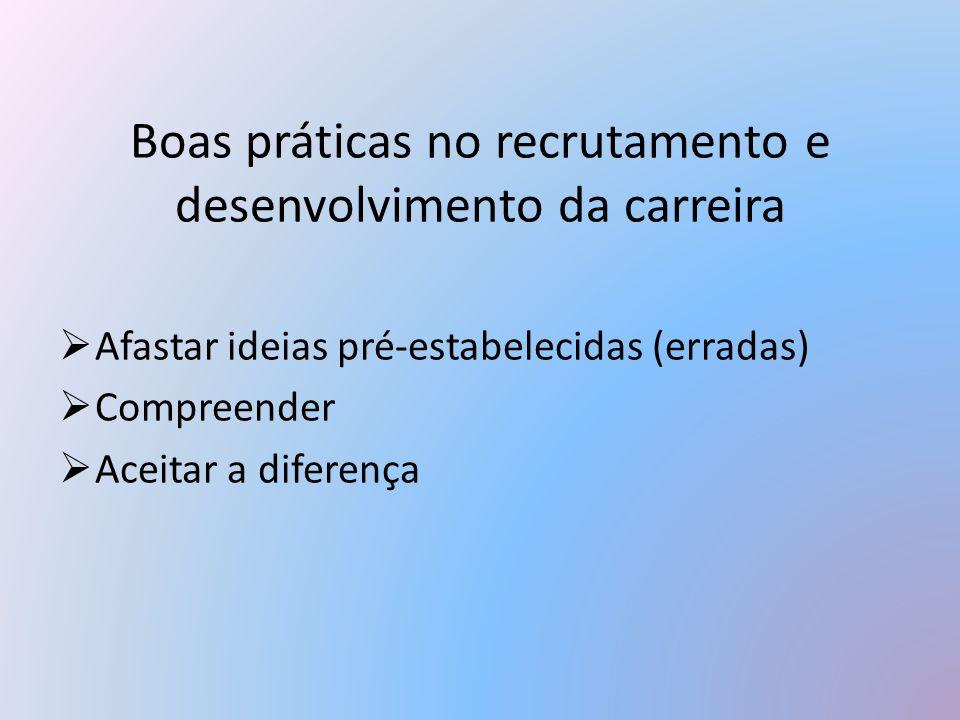 Boas práticas no recrutamento e desenvolvimento da carreira
