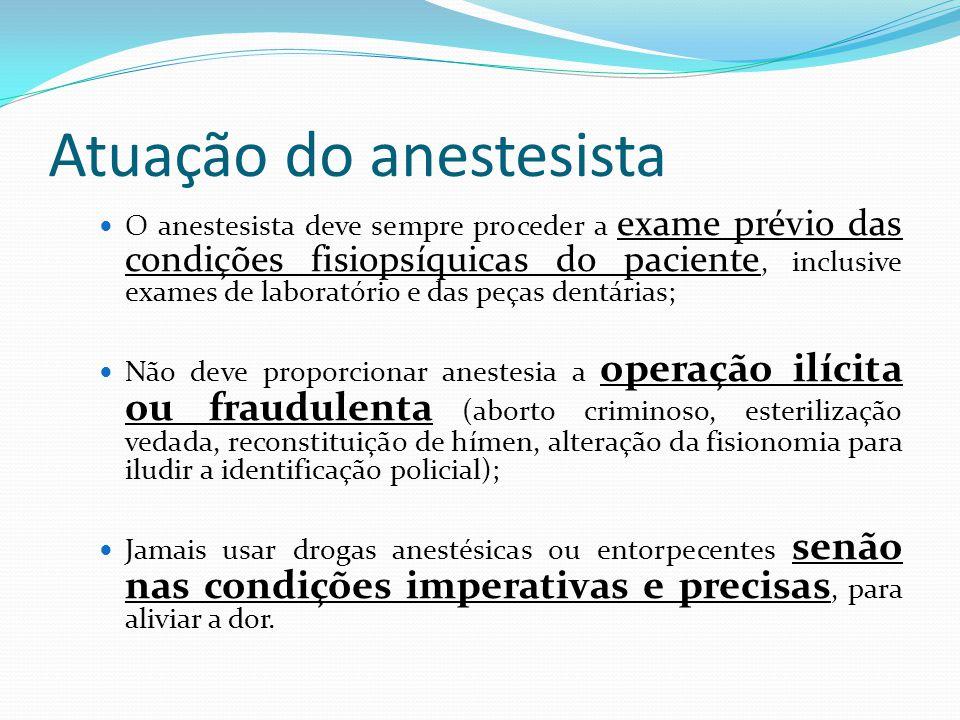 Atuação do anestesista