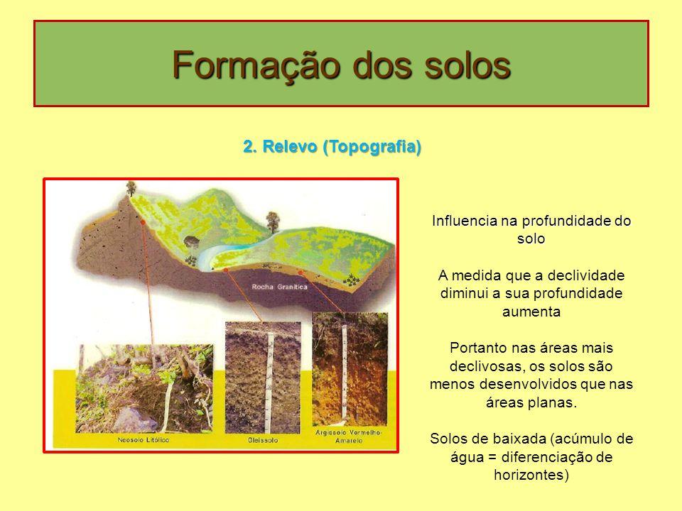 Formação dos solos 2. Relevo (Topografia)