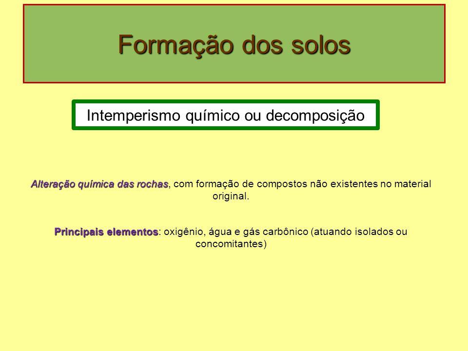 Intemperismo químico ou decomposição