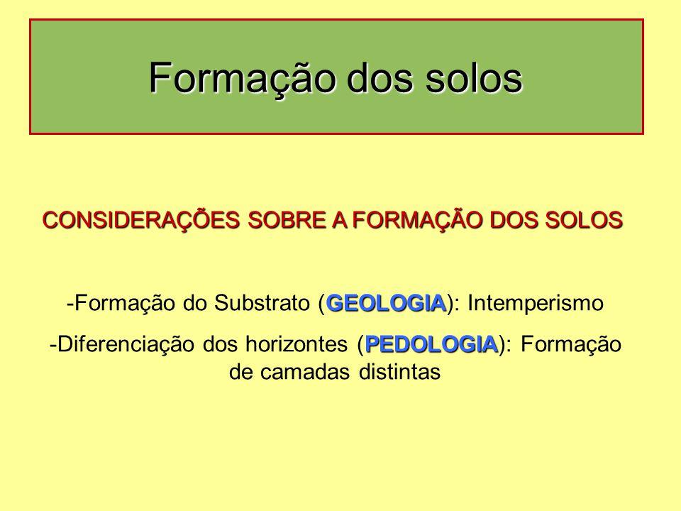 Formação do Substrato (GEOLOGIA): Intemperismo