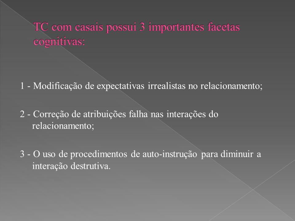 TC com casais possui 3 importantes facetas cognitivas: