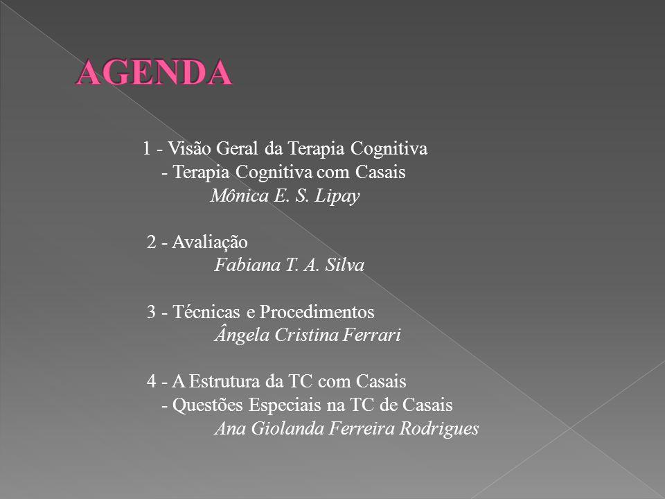 AGENDA 1 - Visão Geral da Terapia Cognitiva