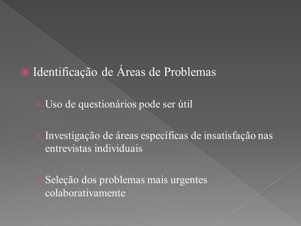 Identificação de Áreas de Problemas