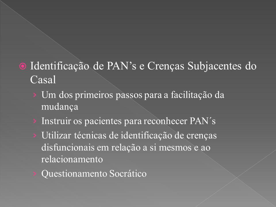 Identificação de PAN's e Crenças Subjacentes do Casal