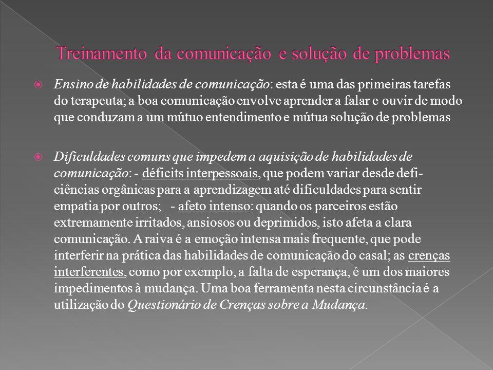 Treinamento da comunicação e solução de problemas