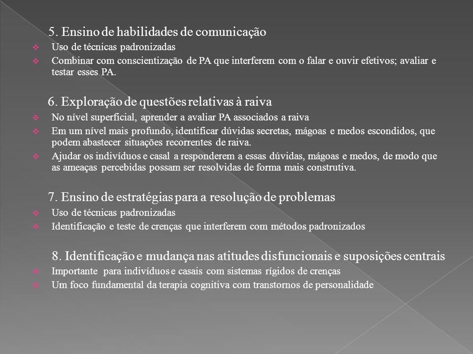 5. Ensino de habilidades de comunicação