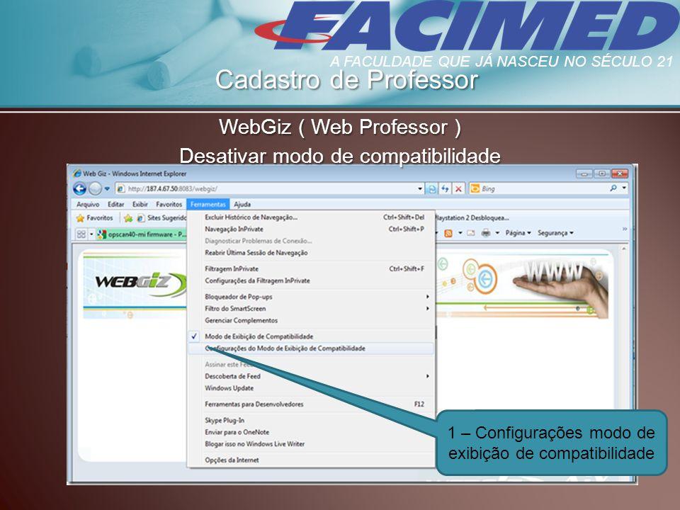Cadastro de Professor WebGiz ( Web Professor )