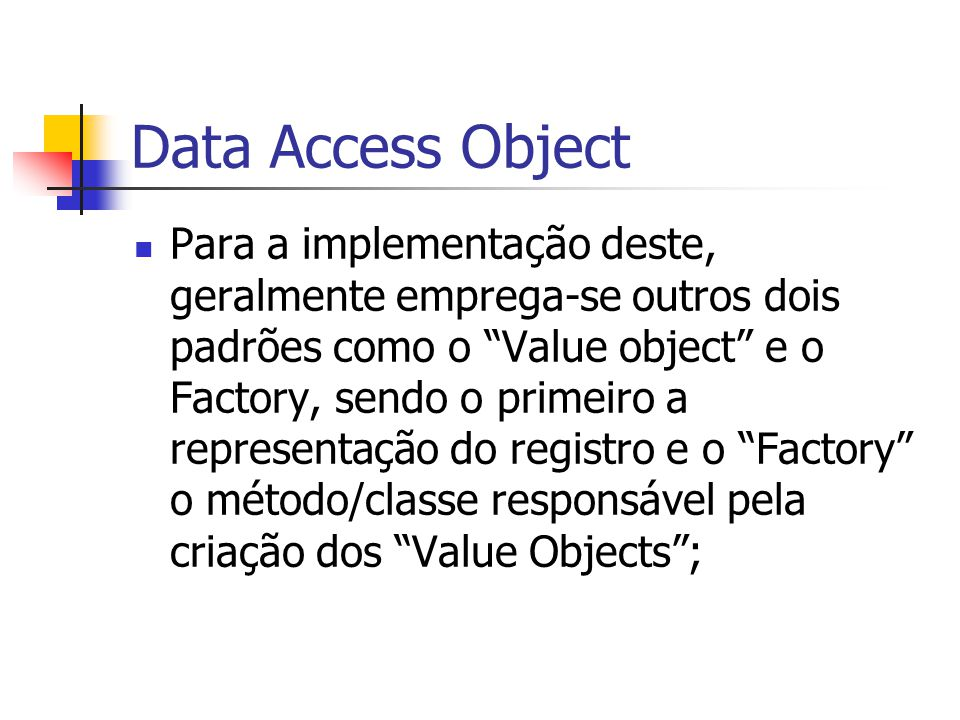 Data Access Object