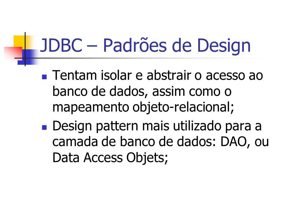 JDBC – Padrões de Design