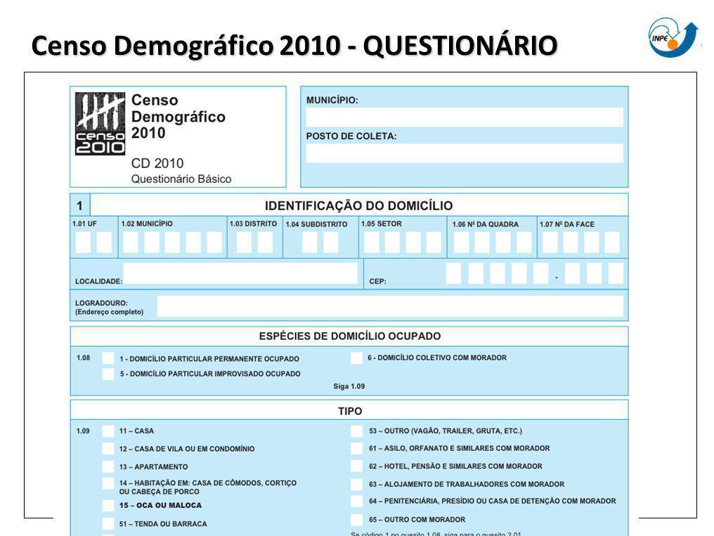 Censo Demográfico 2010 - QUESTIONÁRIO