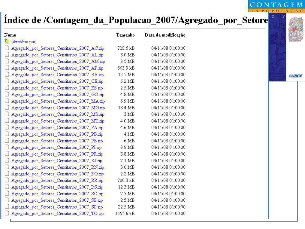 Contagem de População Contagem da População 2007