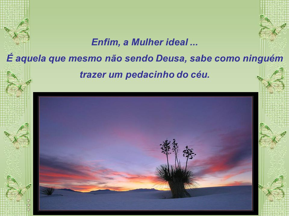Enfim, a Mulher ideal ...