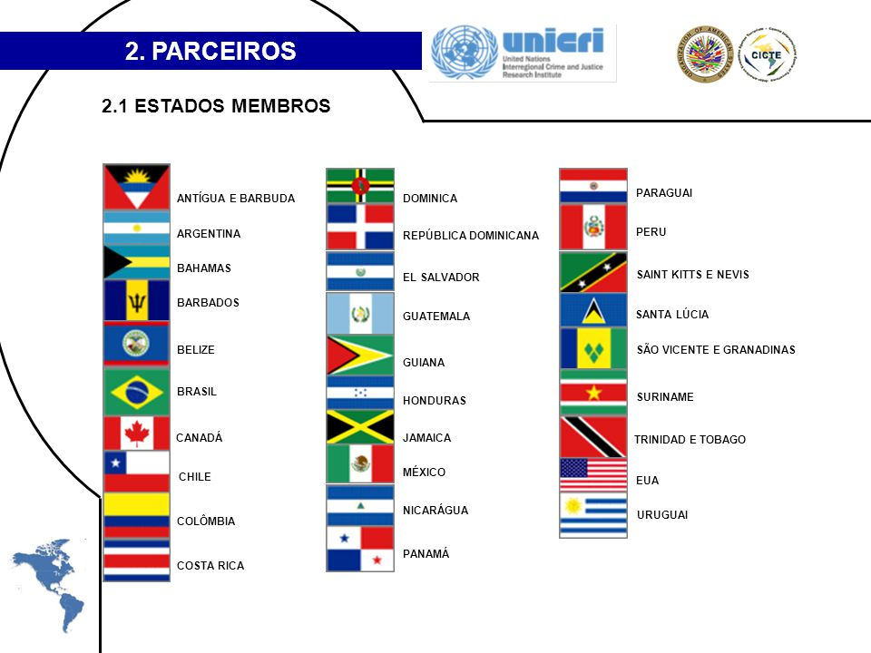 2. PARCEIROS 2.1 ESTADOS MEMBROS ANTÍGUA E BARBUDA DOMINICA PARAGUAI