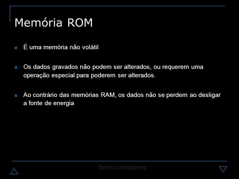 Memória ROM É uma memória não volátil