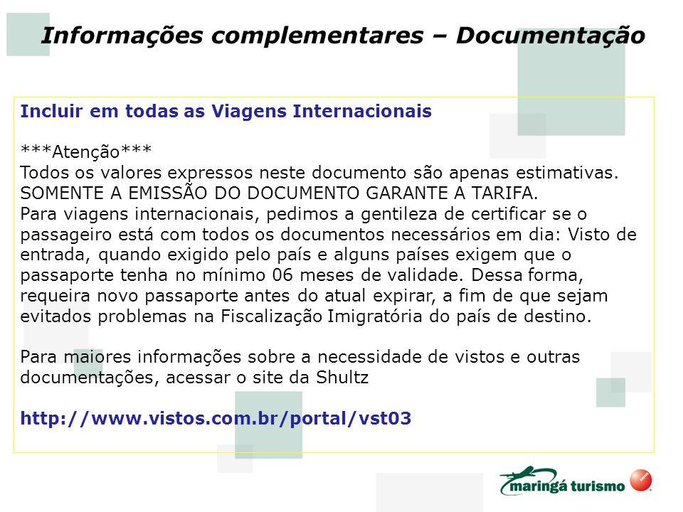 Informações complementares – Documentação