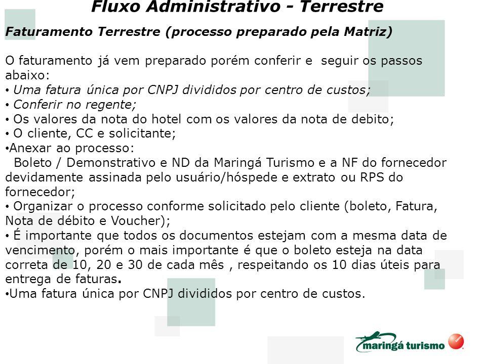 Fluxo Administrativo - Terrestre