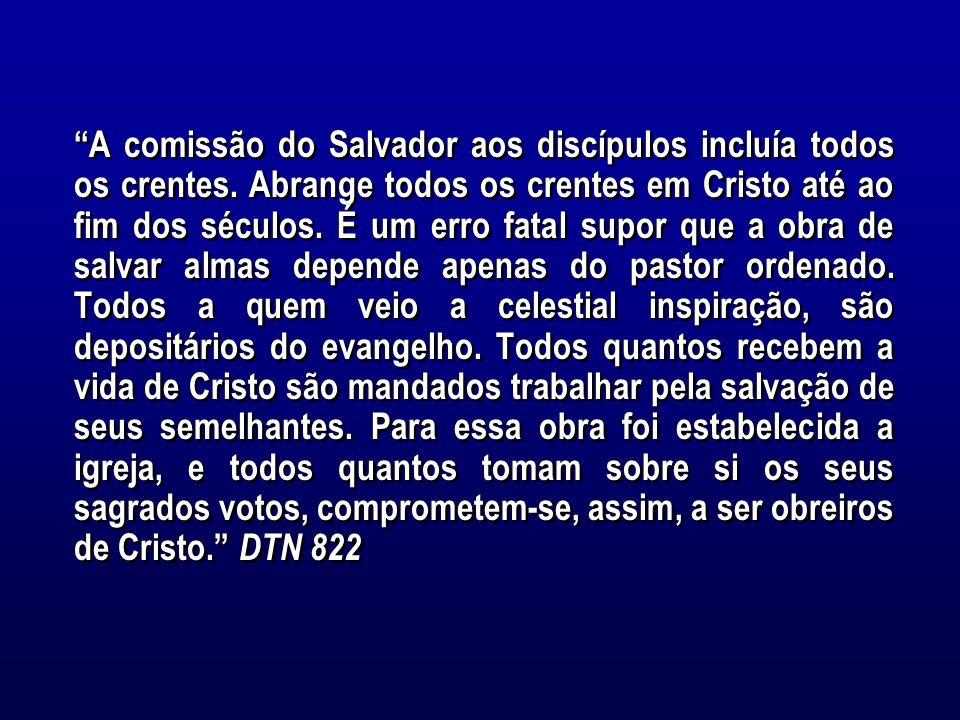A comissão do Salvador aos discípulos incluía todos os crentes