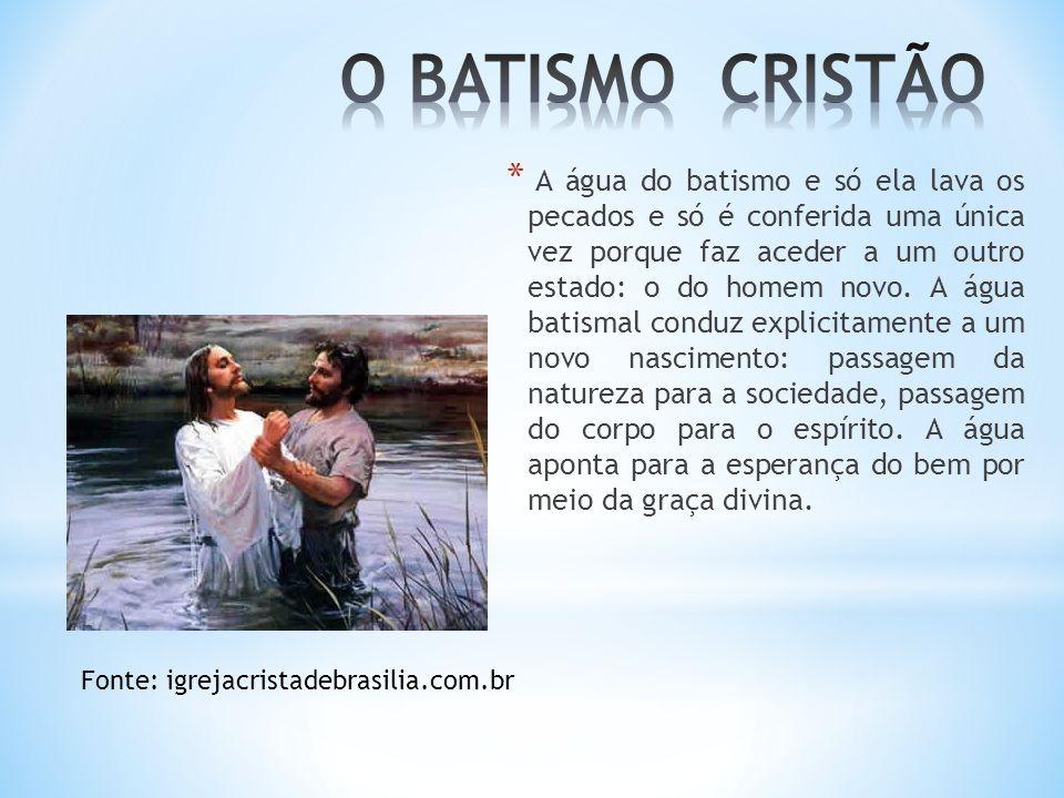 O BATISMO CRISTÃO