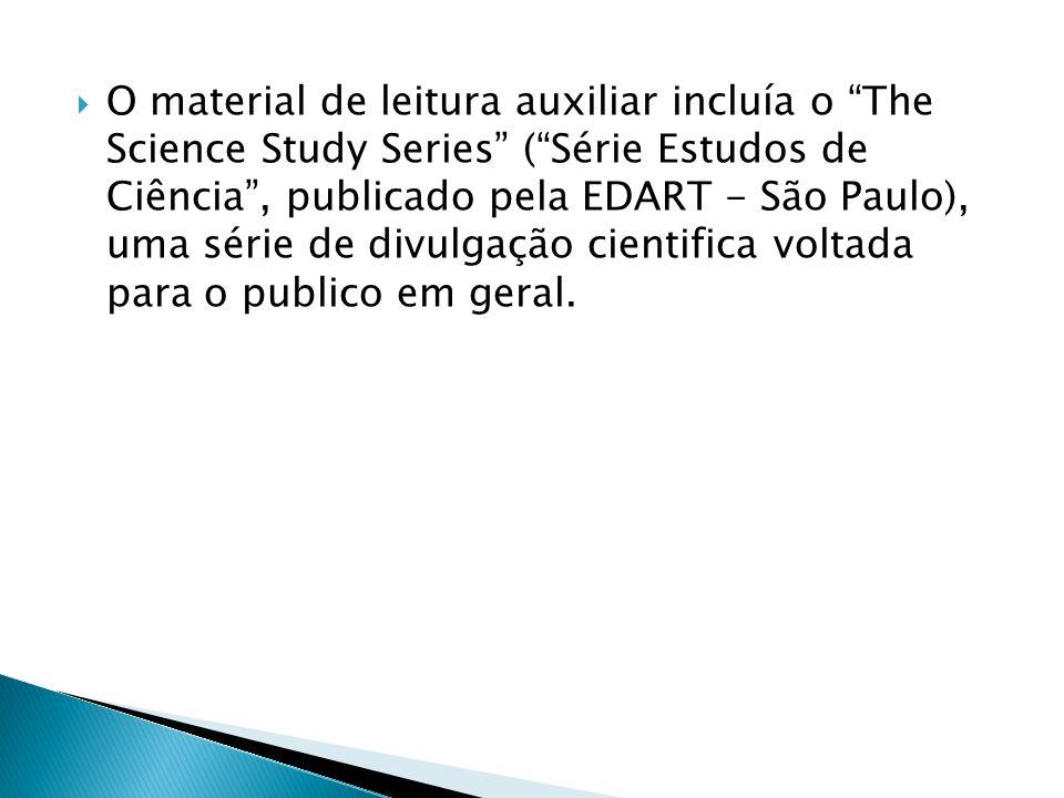 O material de leitura auxiliar incluía o The Science Study Series ( Série Estudos de Ciência , publicado pela EDART - São Paulo), uma série de divulgação cientifica voltada para o publico em geral.