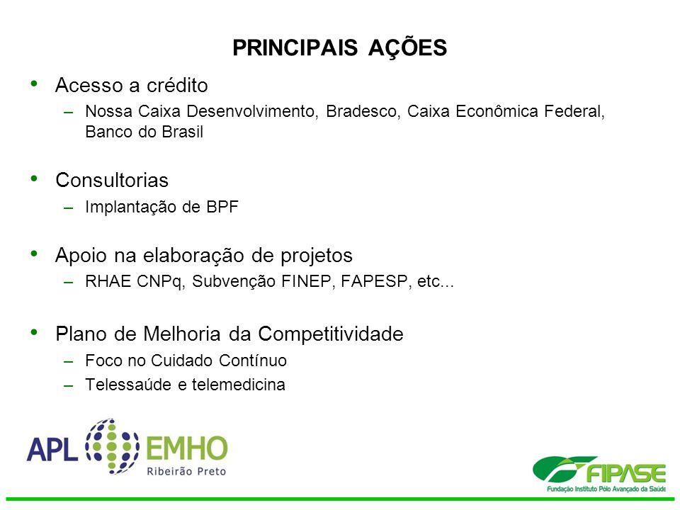 PRINCIPAIS AÇÕES Acesso a crédito Consultorias